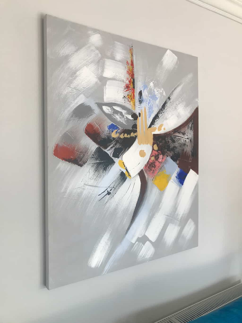 Contemporary Abstract Painting on Canvas in colour
