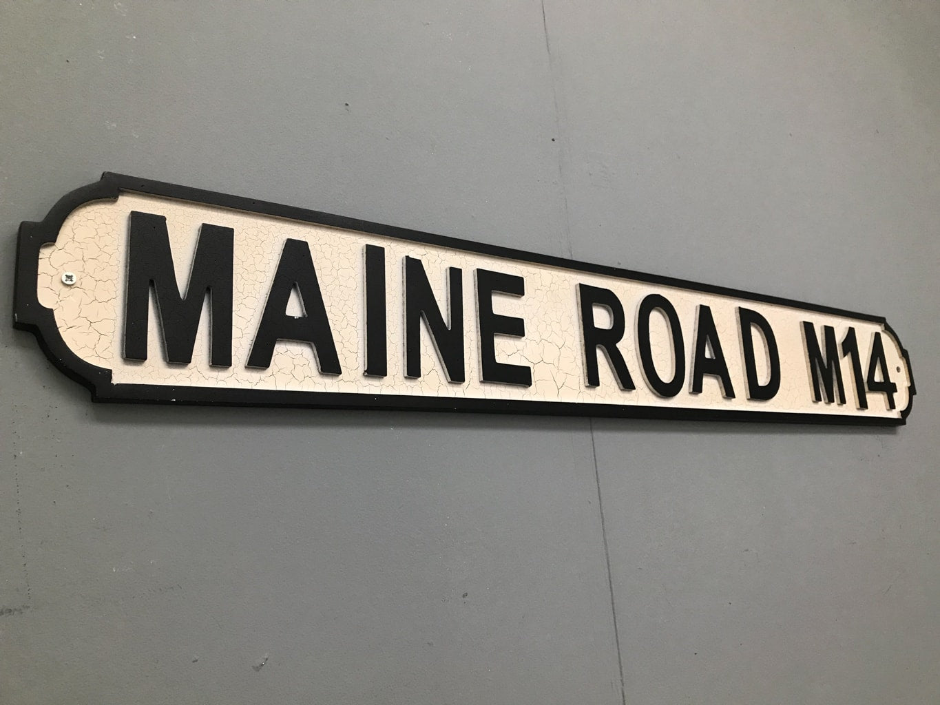 Maine Road Street Sign