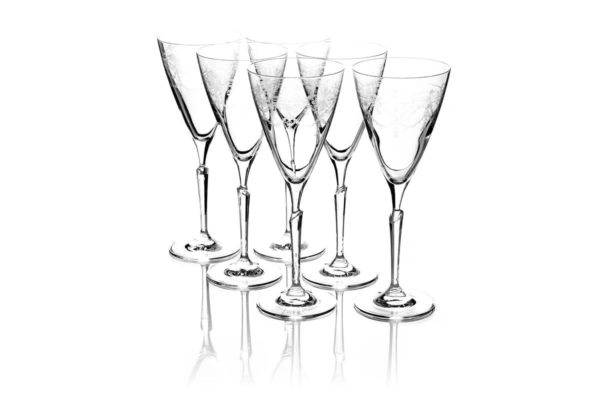Set of Six 290ml First Lady Wine Glasses