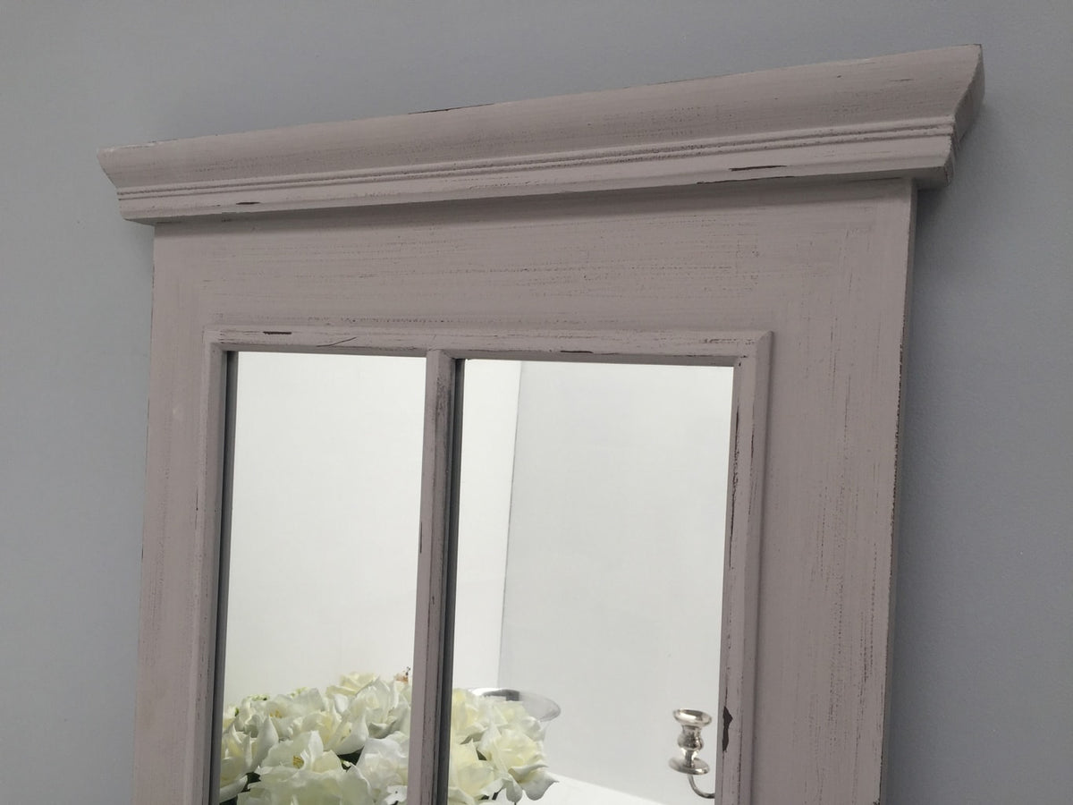 Window Mirror with 6 Glass Panels