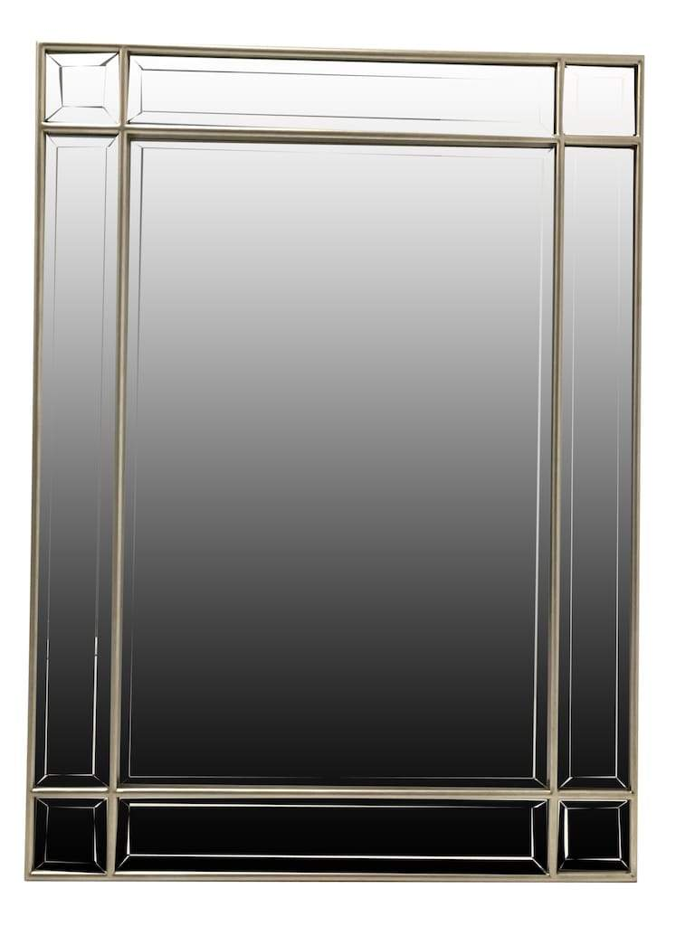 Silver Wall Mirror in Silver Finish Metal Frame