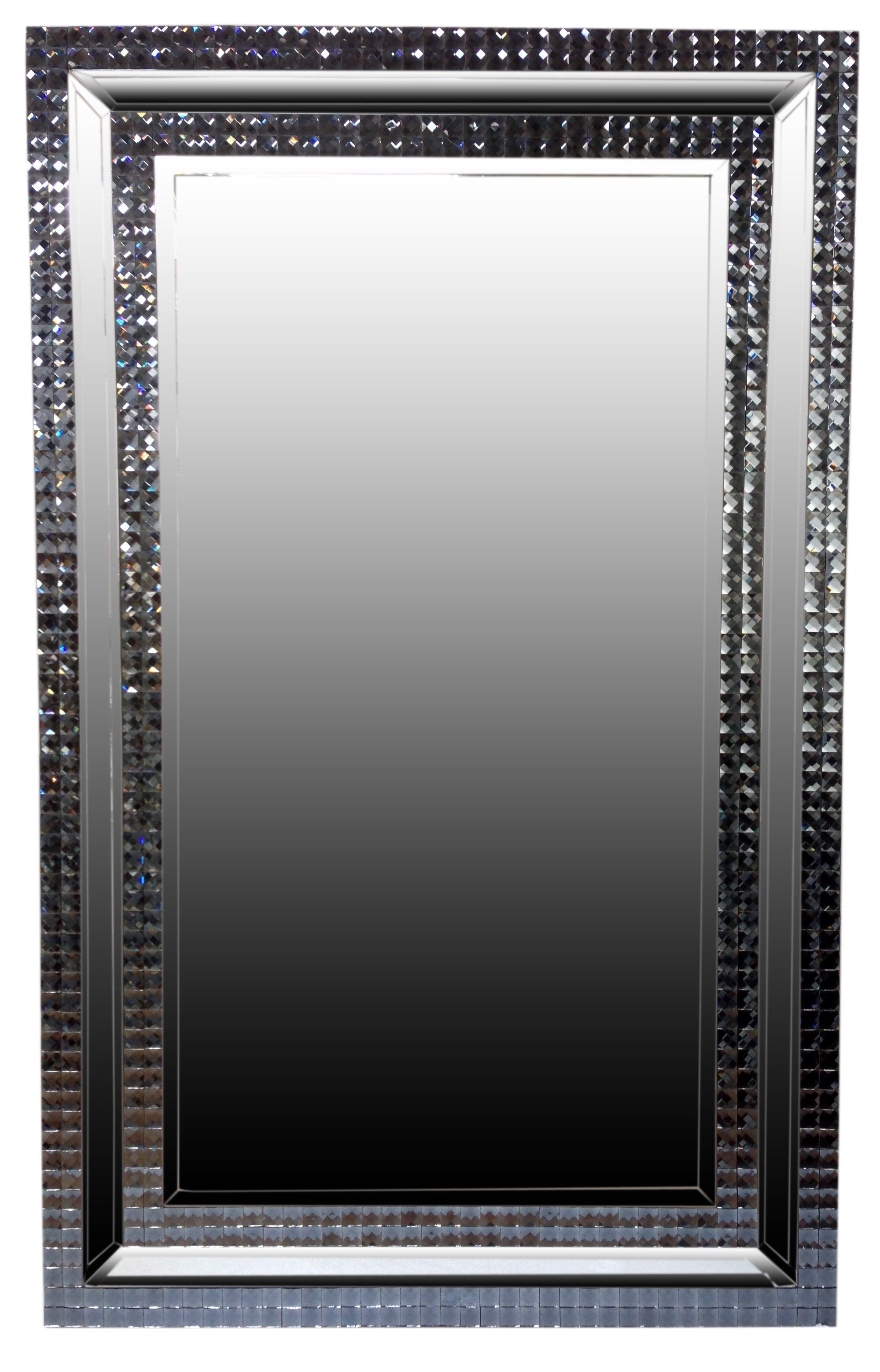 Hollywood Cheval Mirror with Sparkling Frame