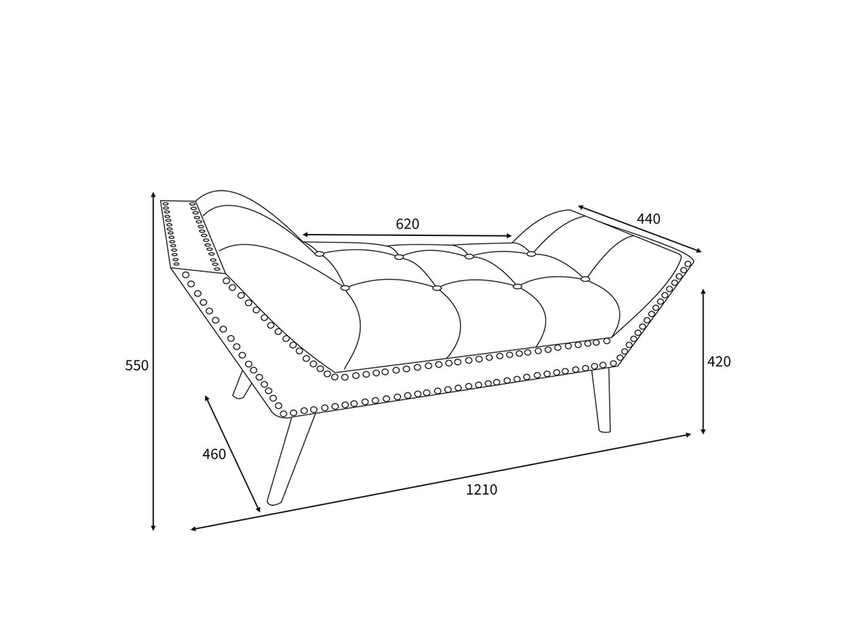 Chaise Longue Bench dimensions