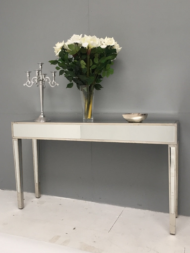 Slim Mirrored Console Table » Silver » Shop