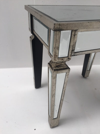 Charleston Mirrored Side Table/Stool
