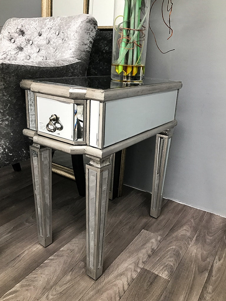 Charleston Mirrored Table with Bevelled Glass