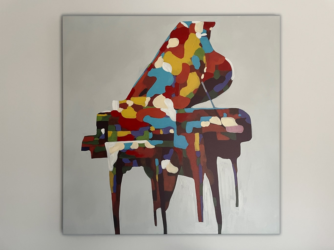 Piano Abstract Painting in Colour on Canvas