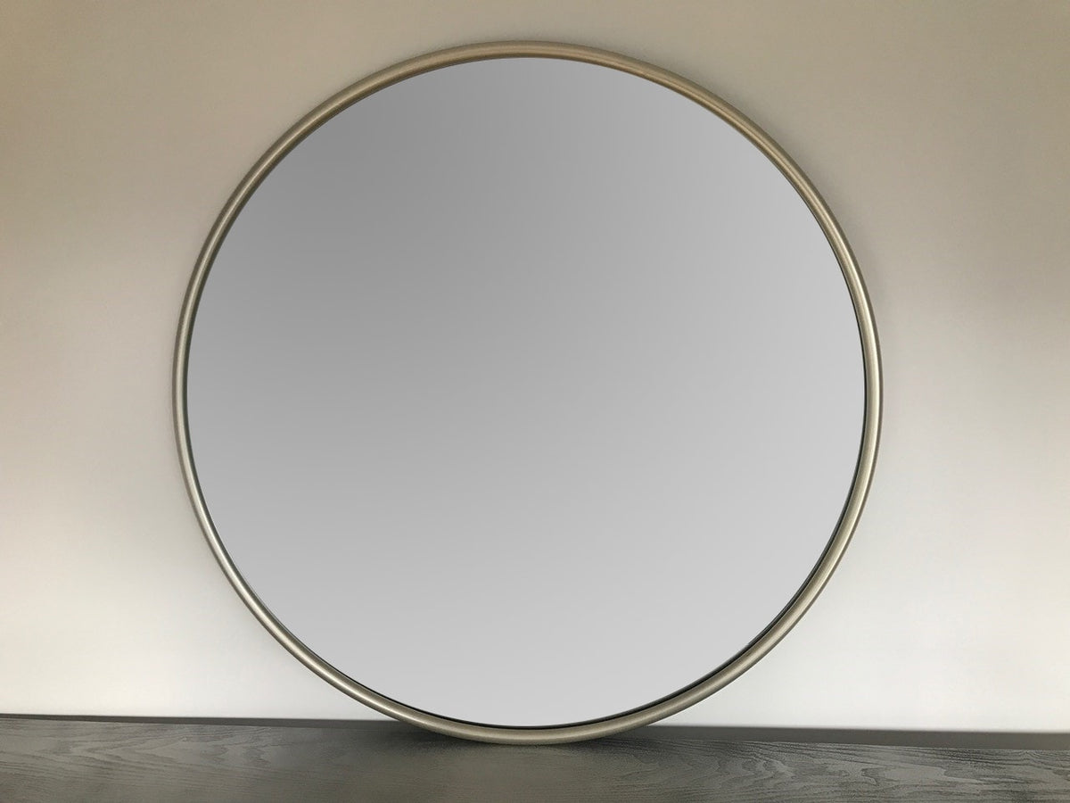 Round silver mirror wall hanging