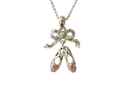 Ballet Slippers Rhinestone Necklace