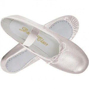 Silver Child Ballet Slippers by Trimfoot