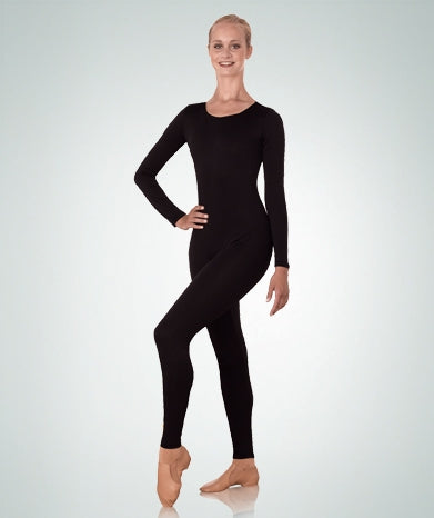 Body Wrappers Plus Size High Neck Long Sleeve Nylon Dance Unitard