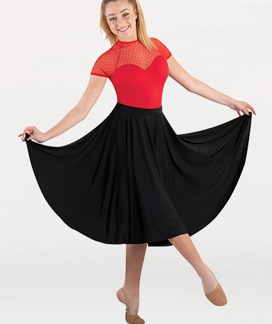 Body Wrappers Girls Below-the-Knee Circle Skirt