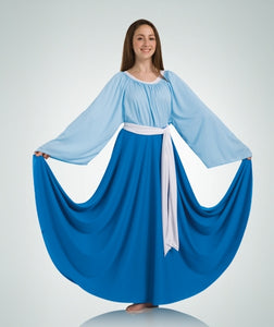 Body Wrappers Women's Praise Dance Circle skirt in Sizes 2X, 3X, 4X, 5X, 6X
