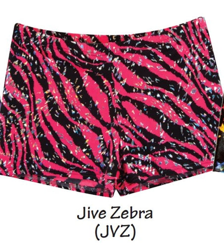 Body Wrappers Zany Zebra Dance Hot Shorts