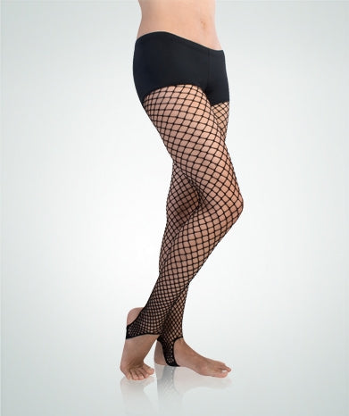 Body Wrappers Stirrup fishnet dance tights