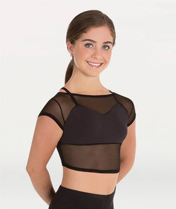 Body Wrappers Tween Crop Faux Bra