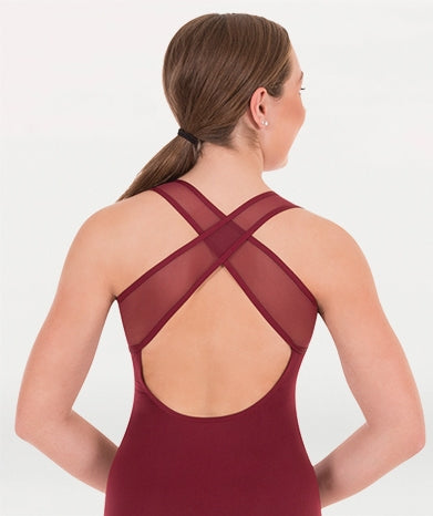 Body Wrappers Adult Cross-Over Back Leotard