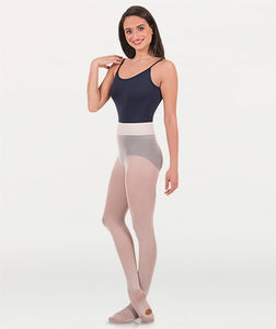 Body Wrappers Girl's Convertible Dance Tights with a knit waistband