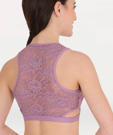 Body Wrappers Tank Lace Back Bra Top for girls and adults