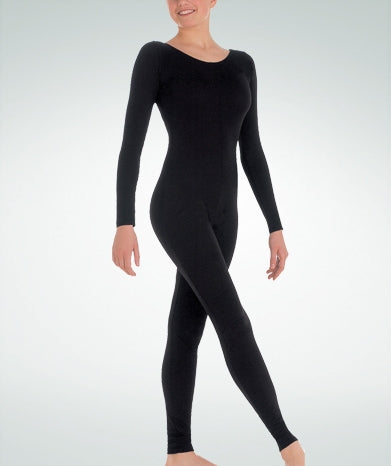 Body Wrappers Girls MicroTECH Long Sleeve Unitard