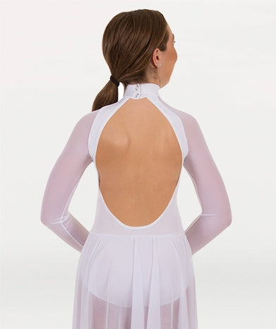 Body Wrappers Adult MicroTECH Long Sleeve Mock Neck Dance Dress