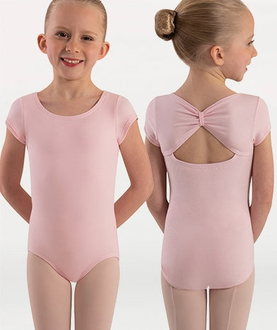 Body Wrappers Girls Organic Cotton Cap Sleeve Leotard