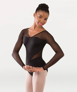 Body Wrappers Tween Long Sleeve Leotard