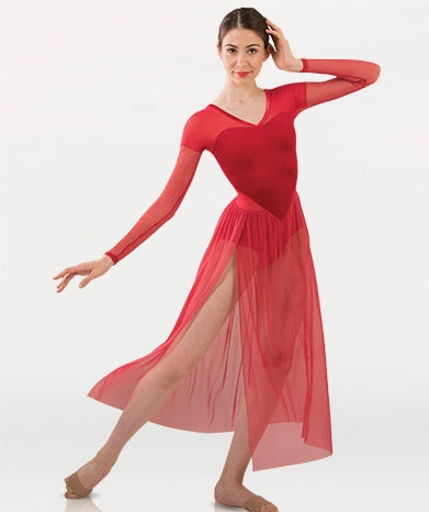 Body Wrappers Adult Long Sleeve Dance Dress