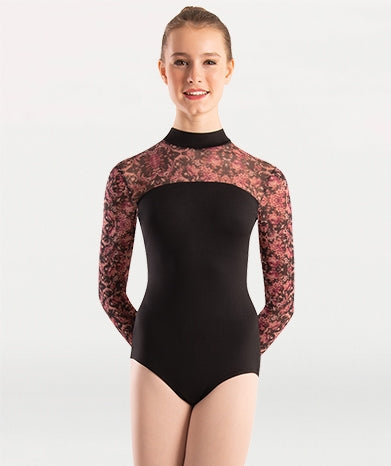 Body Wrappers Beaucoup Long Sleeve Leotard
