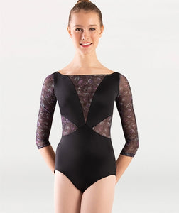 Body Wrappers Virginia Blooms 3-4 Sleeve Leotard