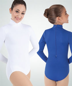 Body Wrappers ProWEAR Child Zip Back Mock Turtleneck Leotard