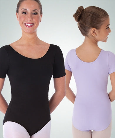 Body Wrappers Plus Size Short Sleeve Leotard - Custom Colors