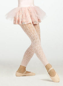 Capezio Girls' Sprinkles Fashion Footless Dance Tights