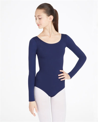 Capezio Nylon Scoop Neck Adult Long Sleeve Leotard