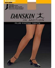 Danskin Shimmery Plus Size Footed Dance Tight