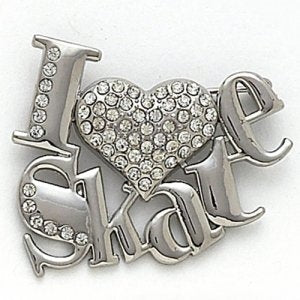 Dasha I Love Skate Pin