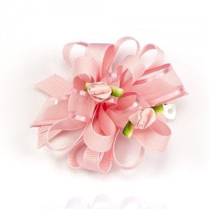Dasha Grosgrain & Sheer Loops w- Rosebud Barrette