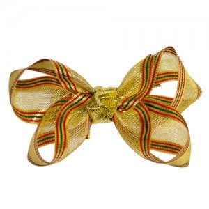 Dasha Gold Holiday Four Way Bow