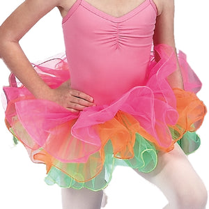 Dasha Three Color Tutu w- Hair Bow