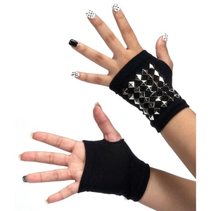 Dasha Metal Diamond Stud Palm Gloves