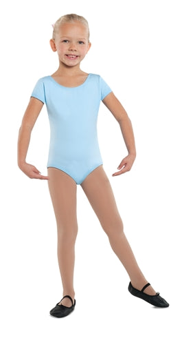 Danshuz Child Short Sleeve Cotton Leotard