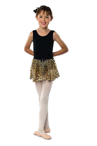 Danshuz Child Leopard Circle Dance Skirt
