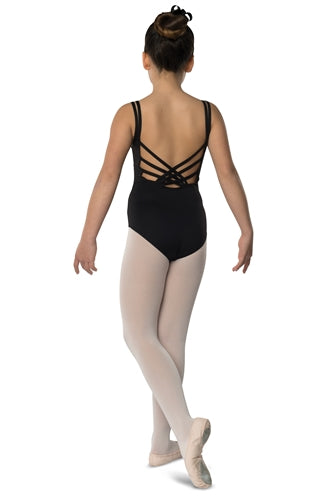 Danshuz Child Back Weave Leotard in Black