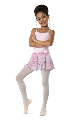 Danshuz Child Flower Chiffon Ballet Skirt