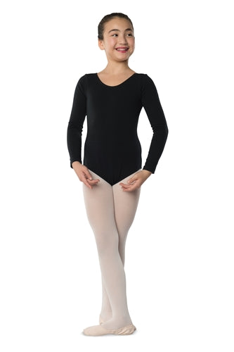 Danshuz Child Long Sleeve Cotton Leotard