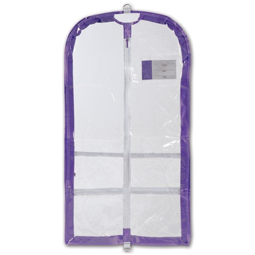 Danshuz Clear Competition Garment Bag with Lavender Trim