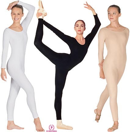 Eurotard Plus Size Cotton Long Sleeve Dance Unitard