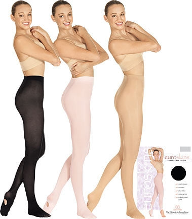 Eurotard Adult & Plus Size Convertible Dance Tights including Plus Size