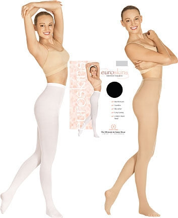 Eurotard Adult & Plus Size Footed Dance Tights