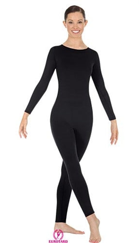 Eurotard Plus Size Microfiber High Neck Long Sleeve Dance Unitard